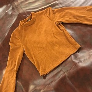 F21 Burnt Orange crop top